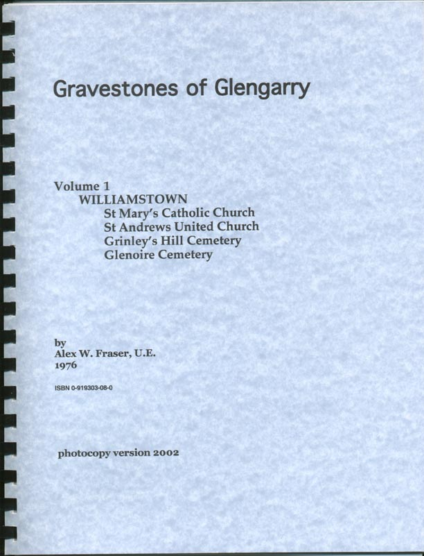 Gravestones of Glengarry v.1