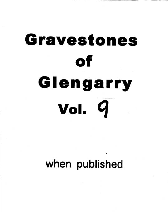 Gravestones of Glengarry v.9